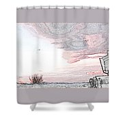 Beautiful Village By Day Shower Curtain