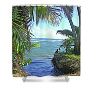 Beautiful Waters Of Puerto Rico Shower Curtain