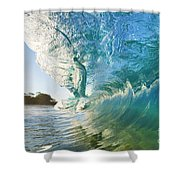 Beautiful Wave And Sunlight Shower Curtain