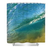 Beautiful Wave Breaking Shower Curtain