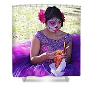Beautiful Woman Day Of Dead IIi Shower Curtain