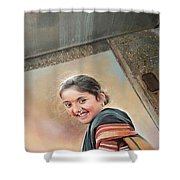 Beautiful Woman Shower Curtain