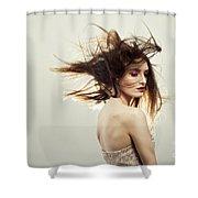 Beautiful Young Woman Shower Curtain