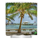 Beautifull Day In Paradise Shower Curtain