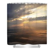 Beauty Above The Clouds Shower Curtain
