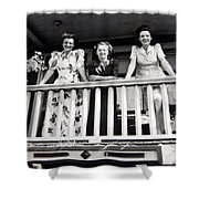 Beauty And Balconies Shower Curtain