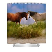 Beauty And Friendship Shower Curtain