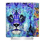 Beauty And The Beast - Lion Art - Sharon Cummings Shower Curtain