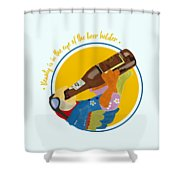 Beauty And The Beer Shower Curtain