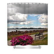 Beauty And The Bench Shower Curtain