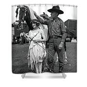 Beauty And The Cowboy Shower Curtain