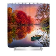 Beauty At The Lake Shower Curtain by Debra and Dave Vanderlaan