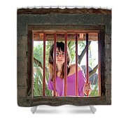 Beauty Beyond The Bars Shower Curtain