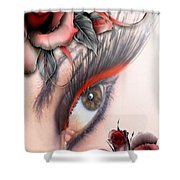 Beauty Beyond The Rose Shower Curtain