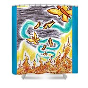 Beauty From Ashes Shower Curtain