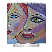 Beauty In Ourselves Shower Curtain by Danielle Allard