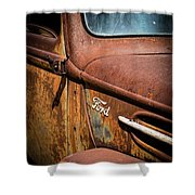 Beauty In Rust Shower Curtain