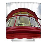 Beauty In The Lighthouse Lens Shower Curtain