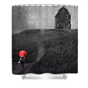 Beauty In The Silver Rain Bw Shower Curtain