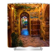 Beauty Of Greek Architechture Shower Curtain