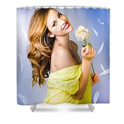 Beauty Of Romance Floating In The Summer Breeze Shower Curtain