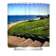 Beauty Of The Pacific Grove Shoreline Two Shower Curtain