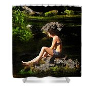Beauty On The Rocks Shower Curtain