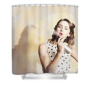 Beauty Parlour Pinup Shower Curtain
