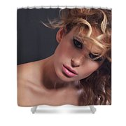 Beauty Portrait Shower Curtain