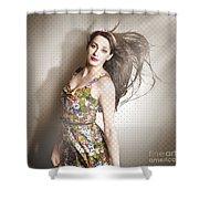 Beauty Salon Pinup Shower Curtain