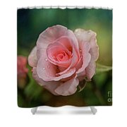 Beauty With Raindrops Shower Curtain