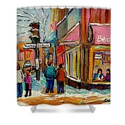 Beautys Luncheonette Montreal Shower Curtain