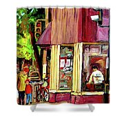 Beautys Luncheonette Montreal Diner Shower Curtain