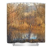 Beaver Dam At Sunset In Colorado            Shower Curtain