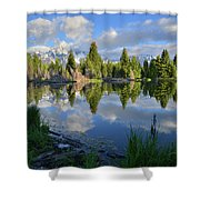 Beaver Dam Reflection In Grand Teton Np Shower Curtain