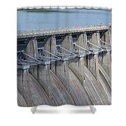 Beaver Dam Spillway Gates Shower Curtain