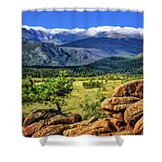 Beaver Meadows In Rocky Mountain National Park Shower Curtain