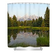 Beaver Pond At Schwabacher Landing Shower Curtain