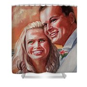 Becky And Chris Shower Curtain