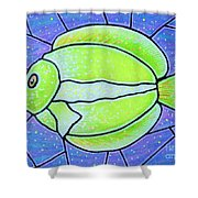 Beckys Yellow Tropical Fish Shower Curtain
