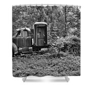 Becoming A Part Of The Landscape Black And White Shower Curtain