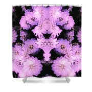 Bed Of Pink Dahlias Shower Curtain