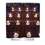 Bed Spring Lights Shower Curtain