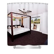 Bed With Canopy Shower Curtain