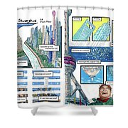 Bedding Shanghai, 2-page Spread  Shower Curtain