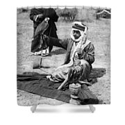 Bedouin Falconer, C1910 Shower Curtain