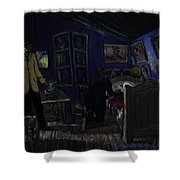Bedroom In Arles By Night Shower Curtain