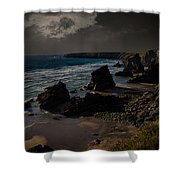 Bedruthan Cornwall Shower Curtain