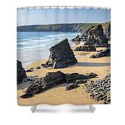 Bedruthan Steps, Cornwall Shower Curtain