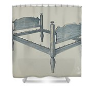 Bedstead Shower Curtain